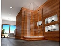 Shower glass screan with tray 90x120x1900