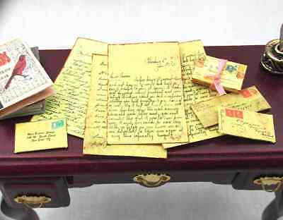 VINTAGE LOVE LETTERS Dollhouse 1:12 Scale Miniature Vintage Victorian Post Mail