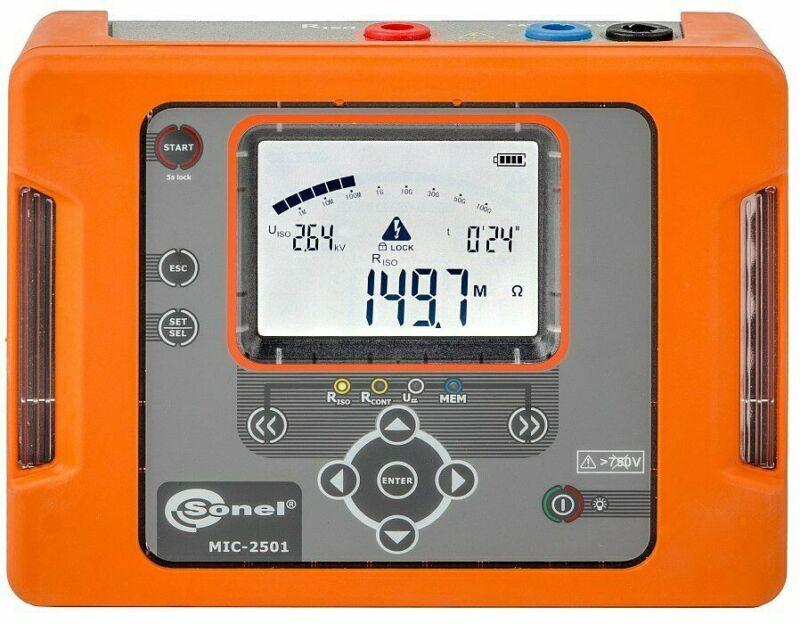 Sonel MIC-2501 2.5kV Insulation Resistance Meter MegOhmMeter megger 1000GΩ
