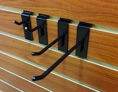 40 New Assorted Slatwall Metal Hook Bundle - 1 2 4 6 - 10 Each - Black