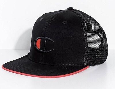 Champion Big C Logo Black Snapback Hat ()