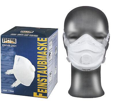 5 Stück Feinstaubmaske FFP3 mit Ventil Atemschutzmaske Staubmasken Atemschutz