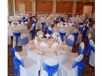 Floral Centrepiece Hire £15 Wedding Flower Panel Backdrop £350 Platform Hire Vase£5 Round Table Rent