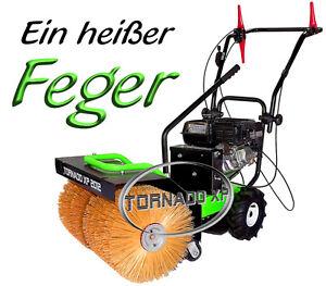 Kehrmaschine Schneeschieber   mitPower Motor  E-Start und 80cm Bürsten