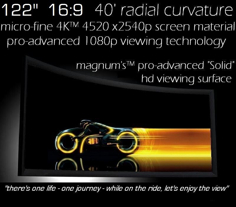 """122"""" 16:9 EPSON 5040 PRO-CURVE 4K HOME THEATER PROJECTION FI"""