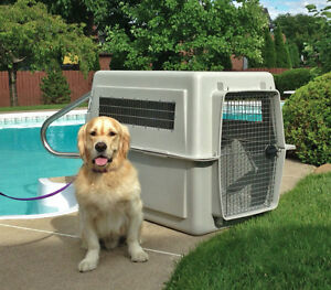 GIANT PLASTIC DOG CRATE - Air transport approved!