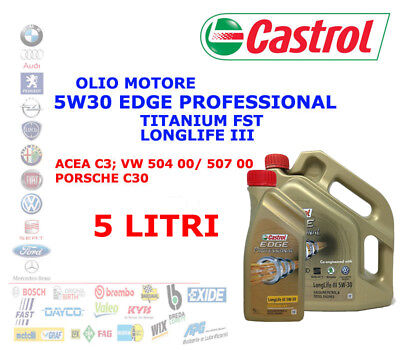 5Lt Aceite Motor 5W30 Castrol Edge Profesional Longlife 3 Titanio FST Acea...