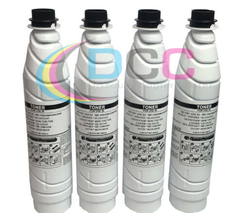 Lot of 4 Compatible 841346 Black Toner Cartridge Savin 8045