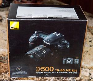 Professional Nikon D500 camera - MINT!