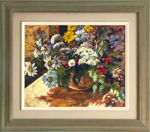 Beautiful floral painting by Canadian Artist, Dorie Clarmont
