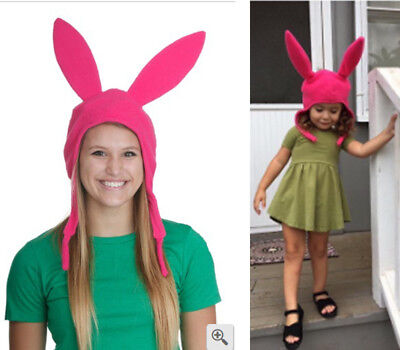 Family Matching Hat Louise Pink Ears Hat Bob's Burgers Cosplay Costume Halloween