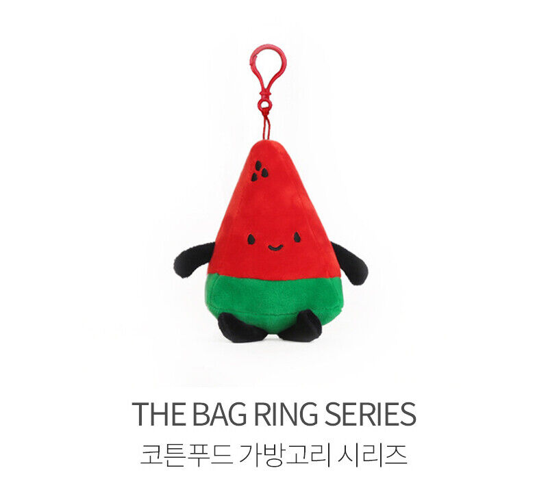 WATERMELON THE BAG RING SERIES 10cm// 4 inch BAG HOOK Cotton Food Cute Doll