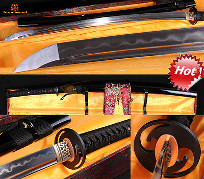 BATTLE READY FOLDED STEEL CLAY TEMPERED  JAPANESE SAMURAI SWORD KATANA SHARP