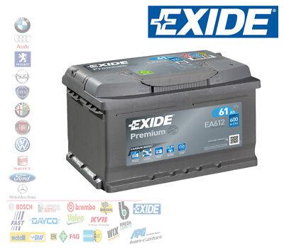 Batería para Coche 12V 61AH Positivo Derecho Dx 600A Señal 60AH Bajo...