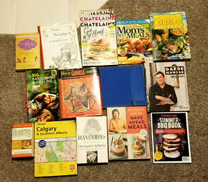 Assorted books. Mostly cooking