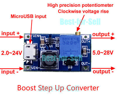 DC-DC Boost Step-up Regulator Converter USB 2~24V to 3 3.3V 5V 9V 12V 24V Module segunda mano  Embacar hacia Argentina