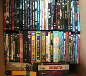 Barely used DVDs and BluRays
