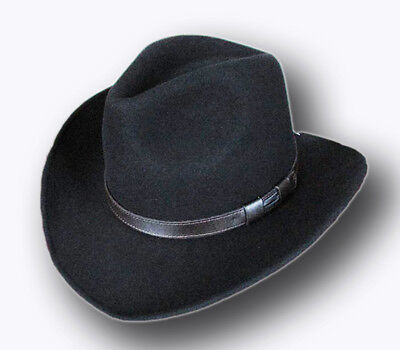 New Men's/Woman's Unisex 100% Wool Western Felt Cowboy Shapeable Hat - Cheap Cowboy Hats For Men