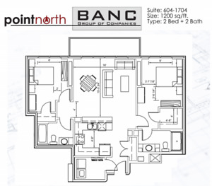 January 1st Point North Building 2 Bedroom 2 Bath