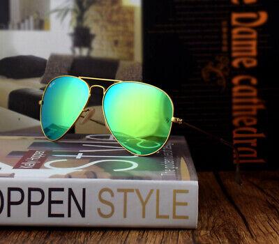 Ray-Ban Sunglasses Aviator RB3025 112/19 Gold Frame Green Mirror Lens 58mm