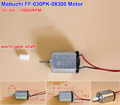 Mabuchi Ff-030pk Mini Worm Gear Shaft Micro 030 Motor Dc 1.5v-12v 3v 6v 10300rpm