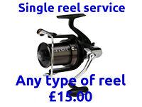 Reel Servicing For 1 Reel, Carp Coarse, Sea, Drop off & Collect Stretford /Manchester M32