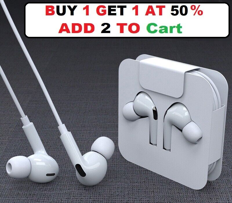 For iPhone X XR 11 12 Pro iPhone 7 8 Plus Wired Headphones Headset Earbuds Gift