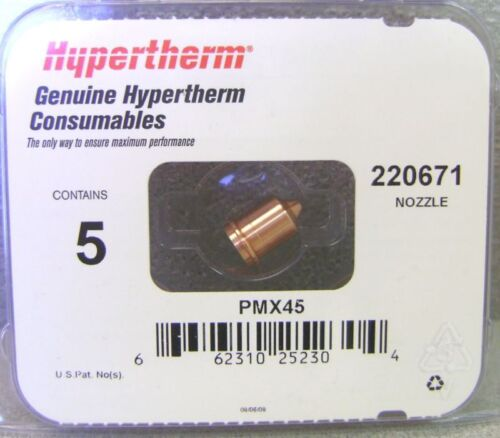 Hypertherm Genuine Powermax 45 Shielded Nozzles 5 Pack 220671