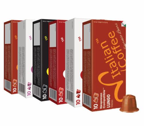 100 ITALIAN COFFEE capsules compatible w/ Nespresso, Espresso pods FREE SHIPPING