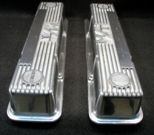 VALVE COVERS POUR CHEVY SMALL BLOCK HOLLEY MICKEY THOMPSON