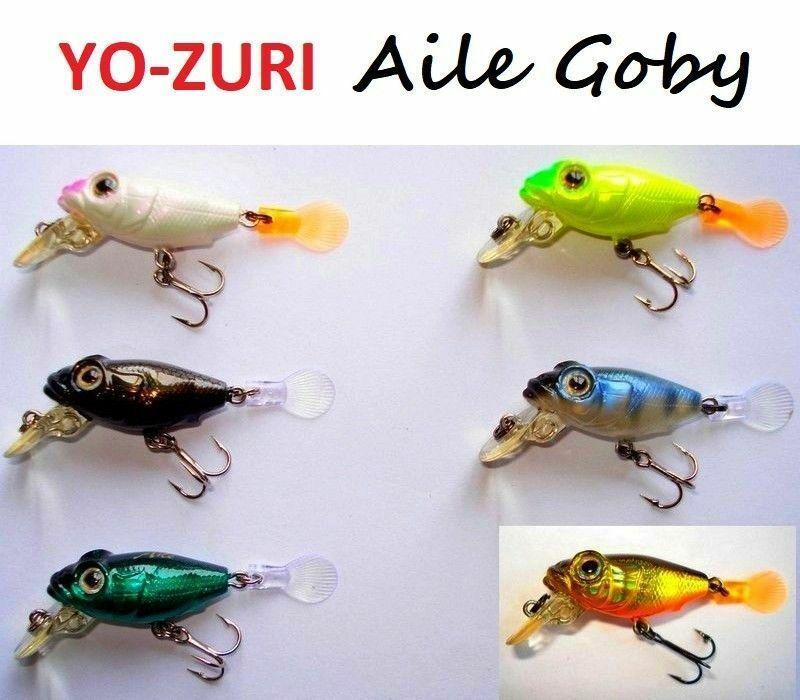 Yo-Zuri Aile Goby 0.0882oz Mix Lot 6 Pcs. Japan Wobbler, Bait, Trout, Predators