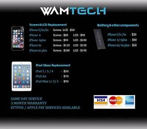 WAMTECH : iPhone Repairs, Parts, Accessories Andrews Farm Playford Area Preview