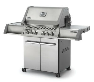 At home, new BBQ professional assembly service.  Only *$70.
