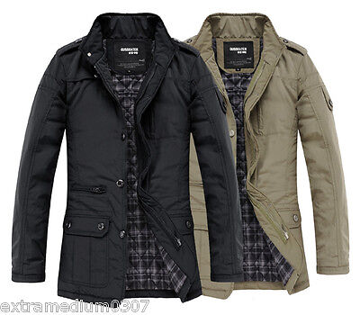 UF1031 New Men's Jacket Coat Slim Clothes Winter Warm Overcoat Casual Outerwear