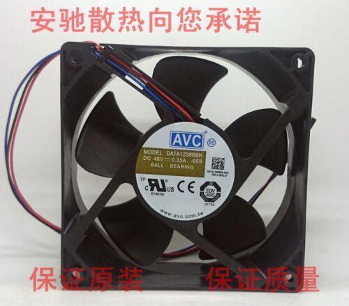 For AVC DATA1238B8H -059 DC48V 0.33A 120*38mm fan