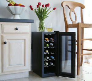 Ivation 12 Bottle Red and White Wine Thermoelectric Wine Cooler/