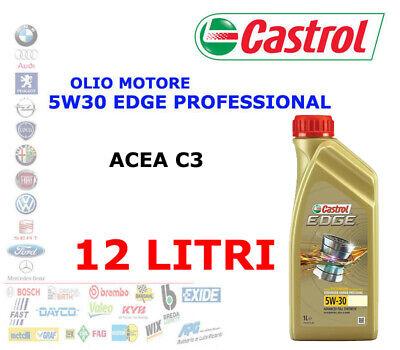 12Lt Aceite Motor castrol edge Profesional Ll LL04 5W-30 Acea C3 BMW...