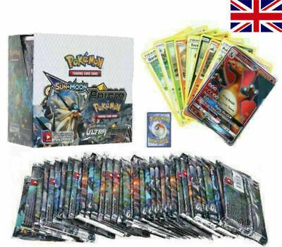 UK 324 Pieces Pokemon GX TCG Booster Box SUN & MOON Art Trading Card Gift boys