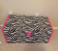 Zebra trunk and stand up fan