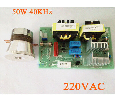 Ac 220v 50w 40khz Ultrasonic Cleaning Transducer Cleaner Power Driver Board