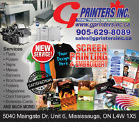 G Printers Inc. Your #1 Print shop in the GTA