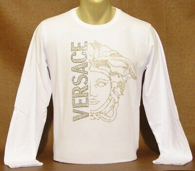 Brand New With Tags Men's VERSACE Long Sleeve T-SHIRT Size XXL
