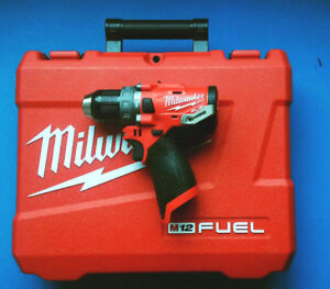 Milwaukee M12 Fuel Hammer Drill Brand New with Case Model 2504