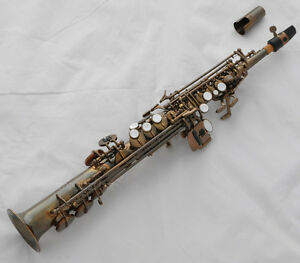 Antique Straight Sopranino Saxophone Professional Eb sax Low Bb high F New Case