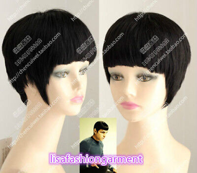 Star Trek Spock Qi Liu Short Black Fashion Hair Cosplay - Star Trek Wigs