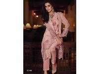 New Original Maria B 4pcs Unstitched Chiffon Suit
