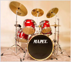 Mapex M Series 5-Piece Drum Set, Cymbals, Hardware & Extras