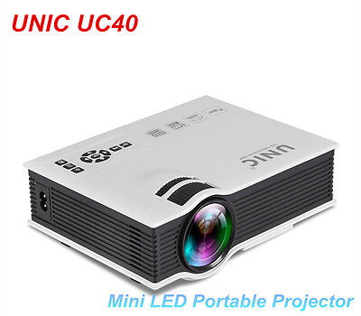 UNIC UC40 LED Mini Projector Home Theater Projectors Supports 1080P USB AV HDMI