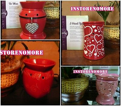 1 SCENTSY Valentine Theme Full Size Warmer DISCONTINUED Retired HEART Crystals