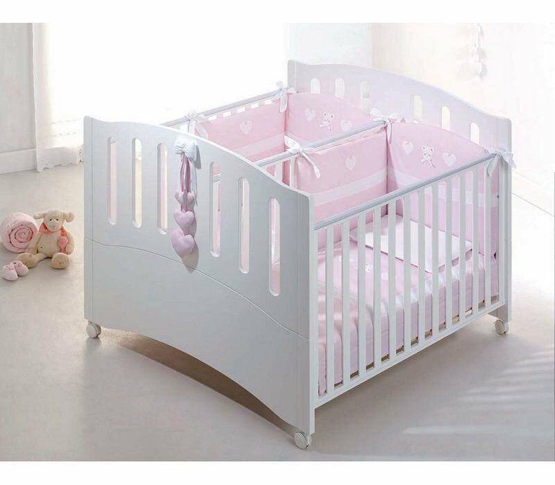 twins babies bed gemini bianco by azzurra design in richmond london gumtree. Black Bedroom Furniture Sets. Home Design Ideas